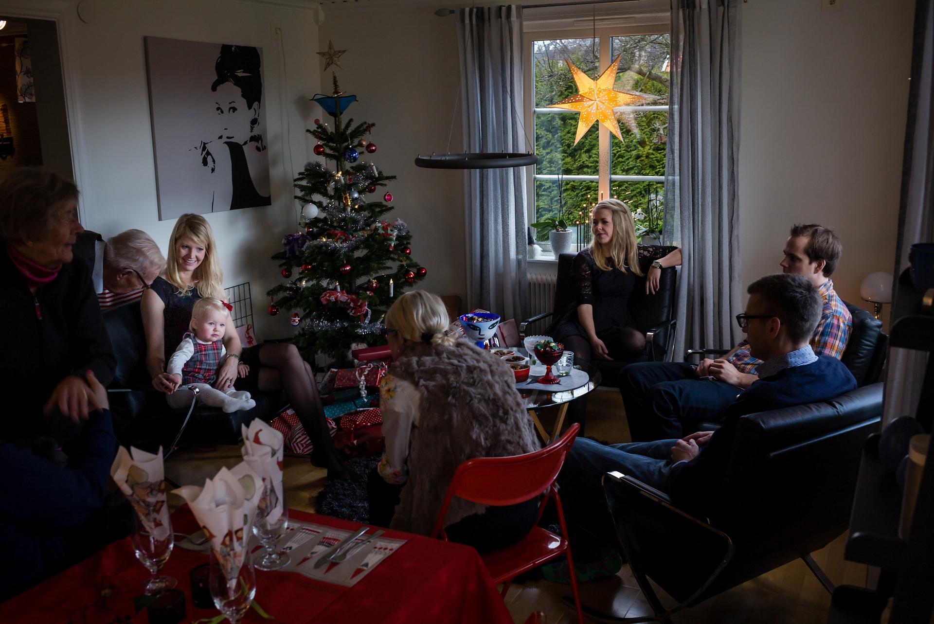 Tjocka släkten, julafton hos P&M