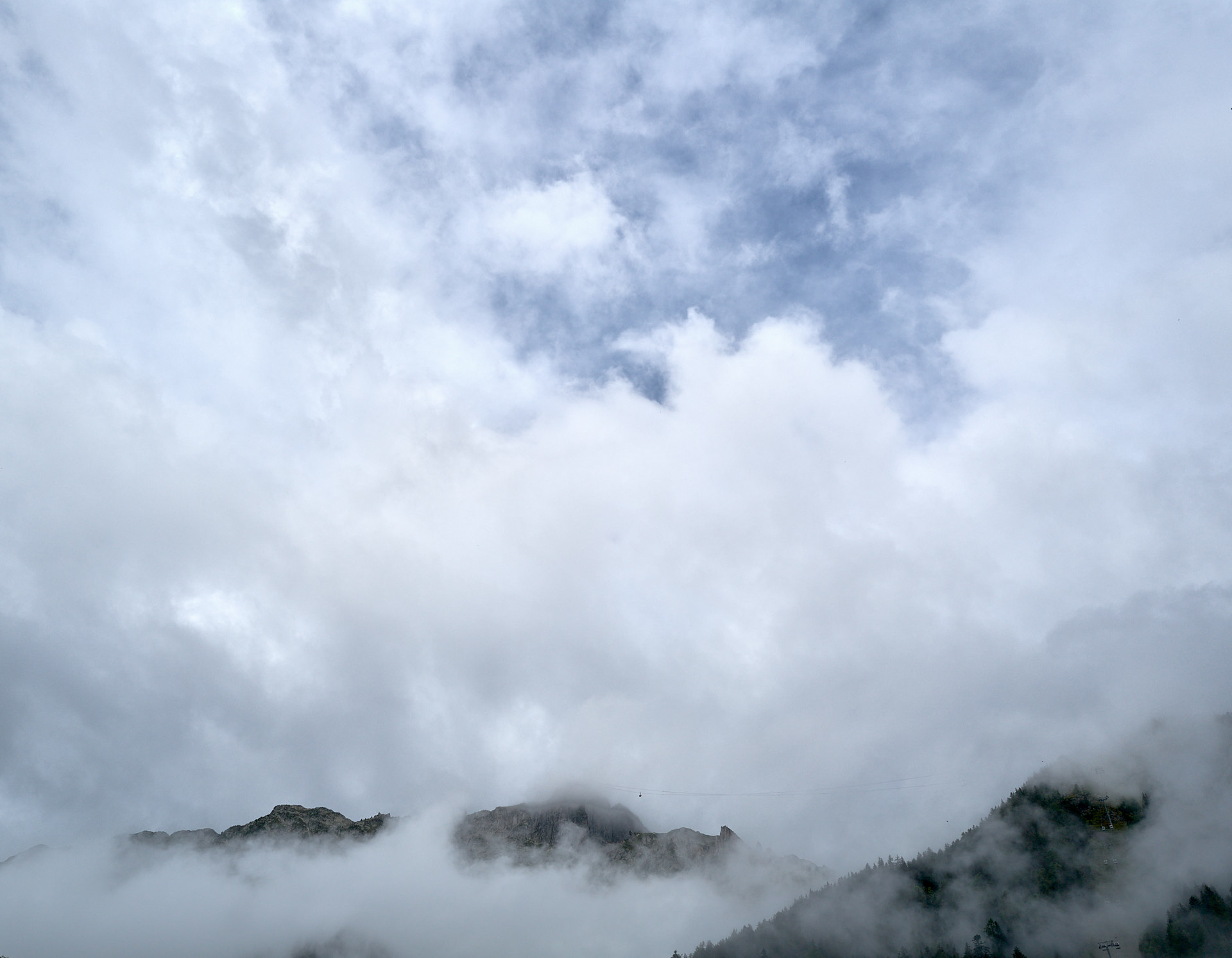 Chamonix, utsikt mot Planpraz och le Brévent