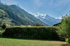 Chamonix, utsikt mot Mont Blanc