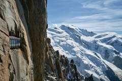 Aiguille du Midi, utsikt mot Mont Blanc