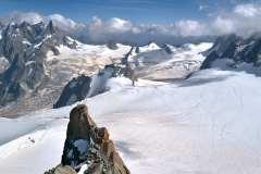 Aiguille du Midi, utsikt mot öster